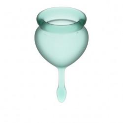 Zestaw kubeczków menstruacyjnych Satisfyer Feel Good zielone