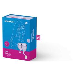 Zestaw kubeczków menstruacyjnych Satisfyer Feel Secure liliowe