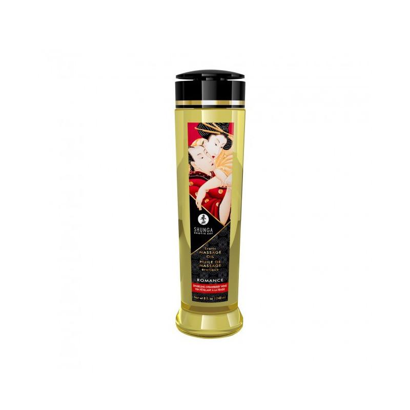 Olejek do masażu erotycznego zapach truskawkowe wino Shunga 240ml