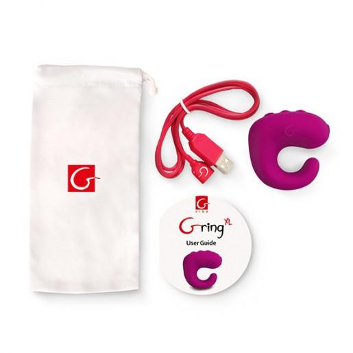 Gvibe Gring XL malinowy wibrator na palec