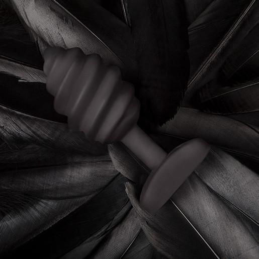Gvibe Gplug Twist czarny korek analny z wibracjami