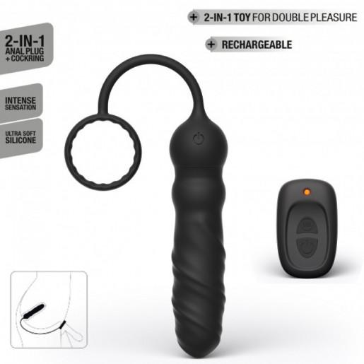 Dorcel Deep Seeker wibrujący korek analny z pierścieniem na penisa