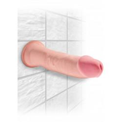 Cieliste dildo z przyssawką King Cock Plus 23cm