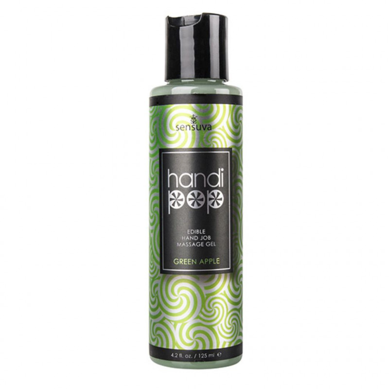 Żel do masażu - Sensuva Handipop Green Apple Hand Job Massage Gel 125 ml