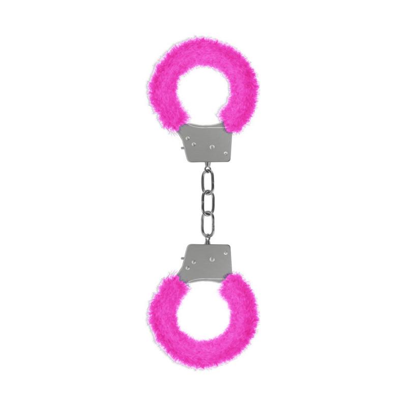 Kajdanki futerkowe OUCH różowe
