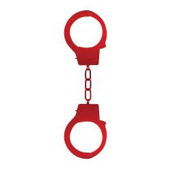Kajdanki metalowe OUCH czerwone