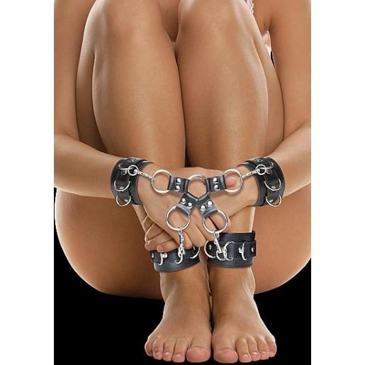 Krzyżak BDSM skórzany OUCH czarny