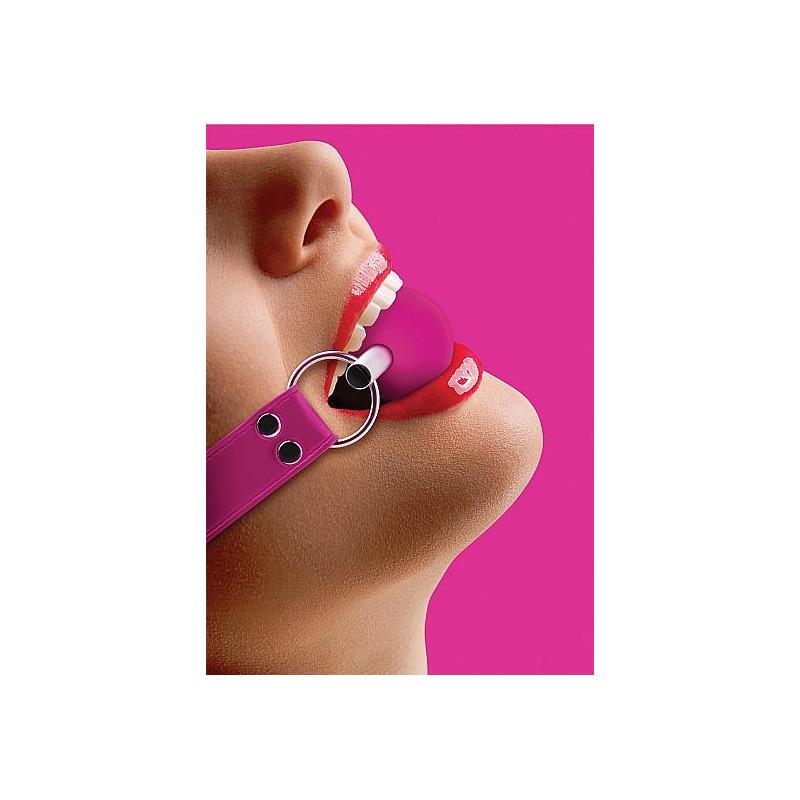 Knebel kula OUCH gumowy różowy