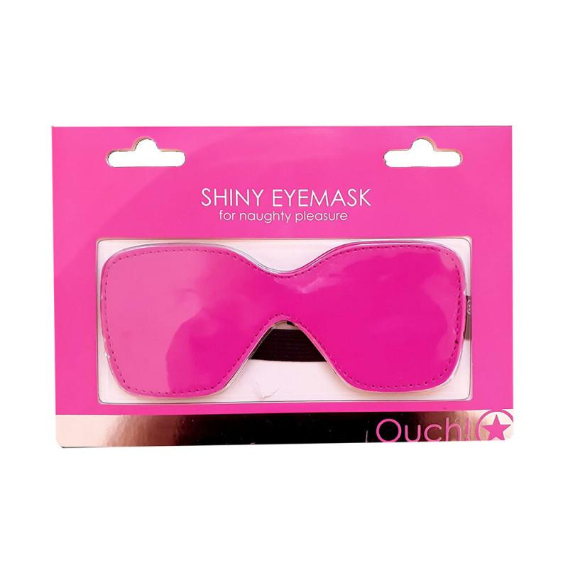 Maska na oczy OUCH błyszcząca różowa