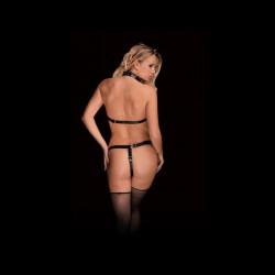 Uprząż zbroja OUCH bikini dla kobiet ANGELA czarna