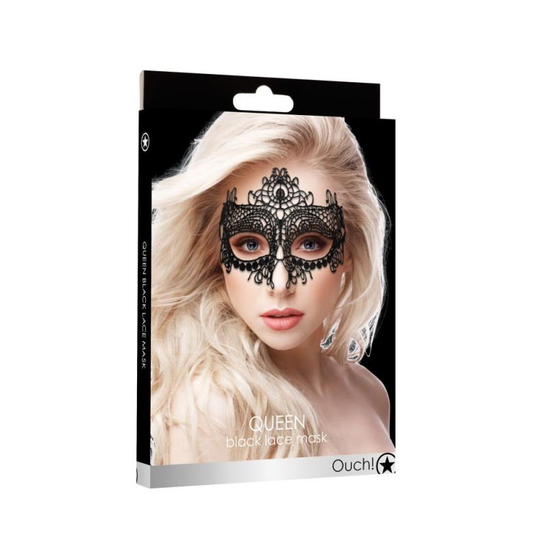 Maska karnawałowa OUCH Queen koronka czarna