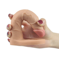 Dildo analne z pierścieniem na penisa LOVETOY The Ultra Soft Double