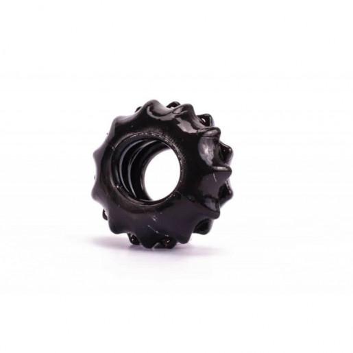 Czarny elastyczny pierścień na penisa Lovetoy Power Plus śr. 1,7cm