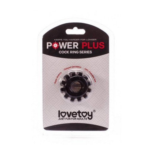 Lovetoy Power Plus czarny pierścień na penisa śr. 1,6cm