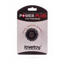 Czarny pierścień na penisa Lovetoy Power Plus śr. 1,6cm