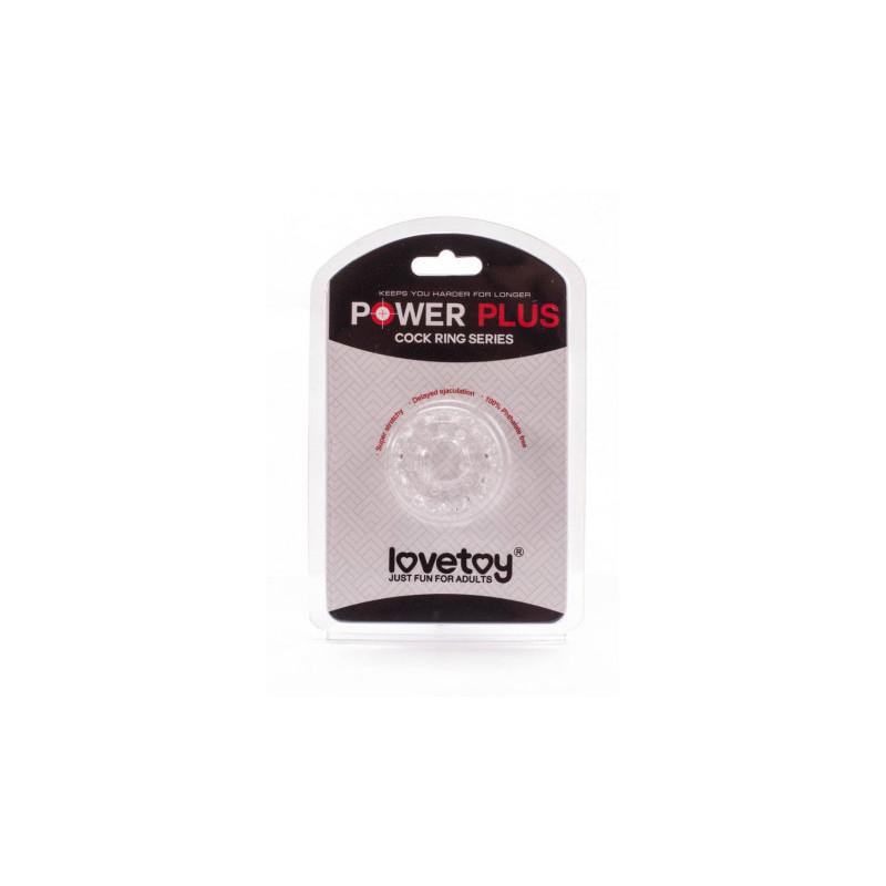Pierścień na penisa Lovetoy Power Plus przezroczysty śr. 4cm