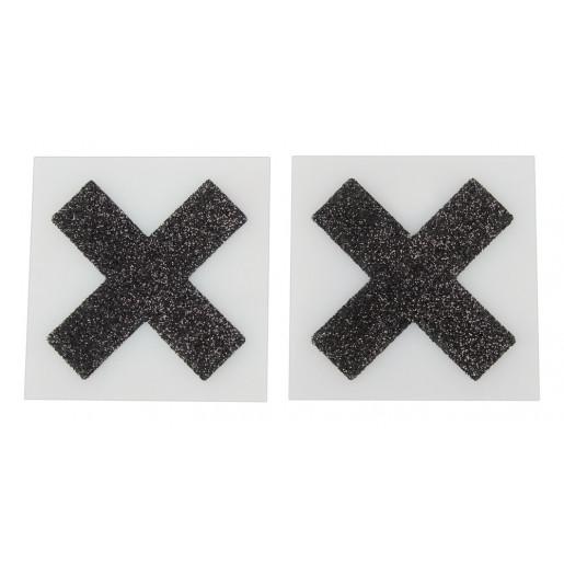 Ozdoby na piersi X czarne Cottelli Collection Accessoires