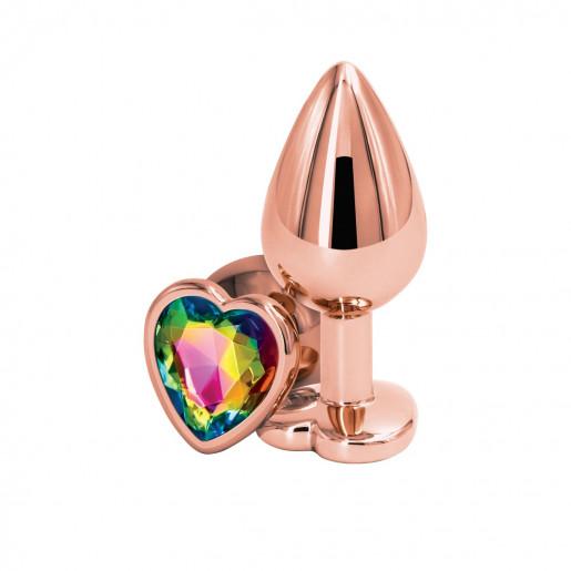Korek analny Rear Assets M serce różowe złoto