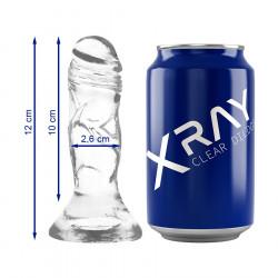 Dildo z przyssawką XRay 12 cm przezroczyste