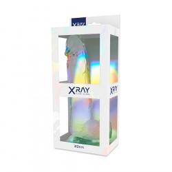 Dildo z przyssawką XRay 22 cm przezroczyste