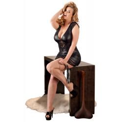 2715147 Sukienka z czarnego wetlooku