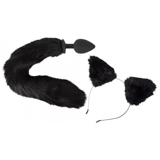 Zestaw Bad Kitty korek analny z kocim ogonem i uszy