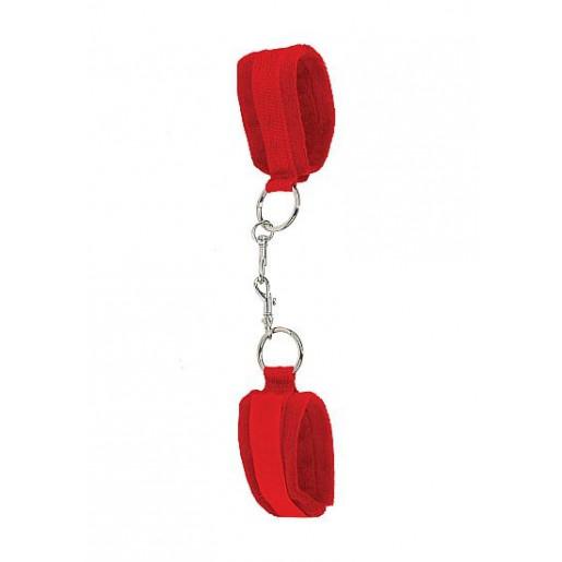 Czerwone kajdanki BDSM na rzepy OUCH