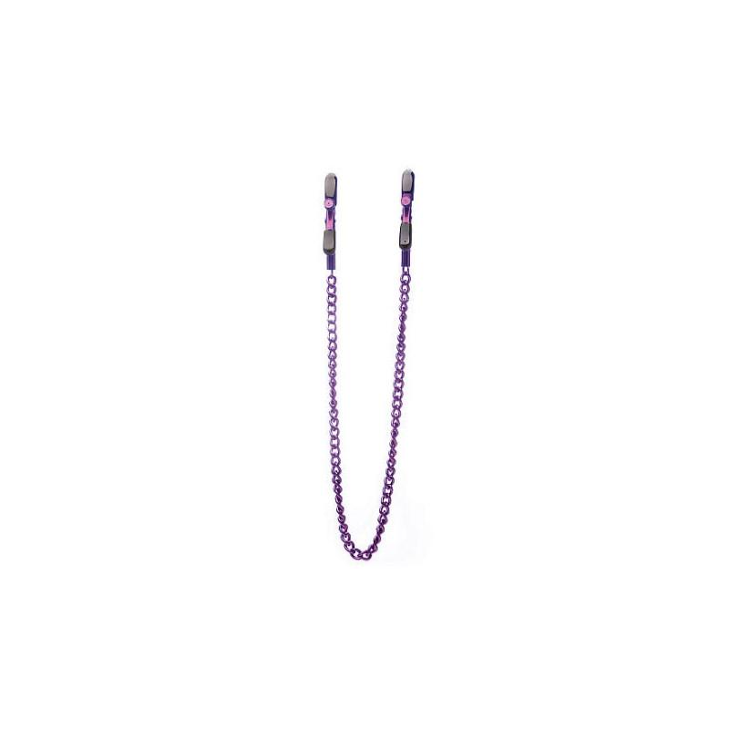 Klamerki na sutki OUCH z łańcuszkiem fioletowe