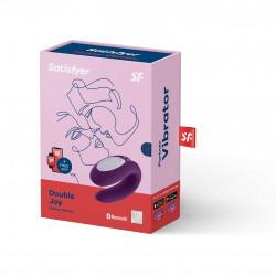 Wibrator dla par sterowany smartfonem Satisfyer Double Joy fioletowy