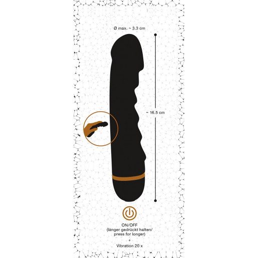 Klasyczny wibrator dla kobiet Bendy Ripple
