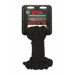 Czarna lina BDSM 9 metrów Kink Hogtied Bind & Tie