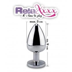 Korek RelaXxxx Silver Starter ze światełkiem M
