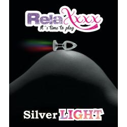 Korek analny RelaXxxx Silver Starter ze światełkiem S