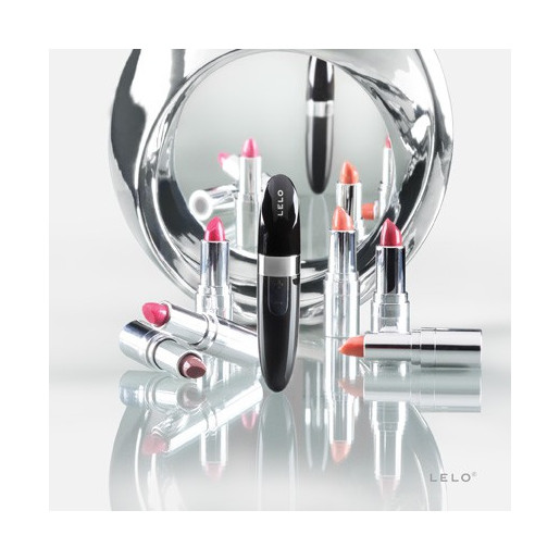 Czarny mini wibrator szminka LELO Mia 2