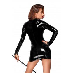 Czarna lateksowa mini sukienka S Noir Handmade