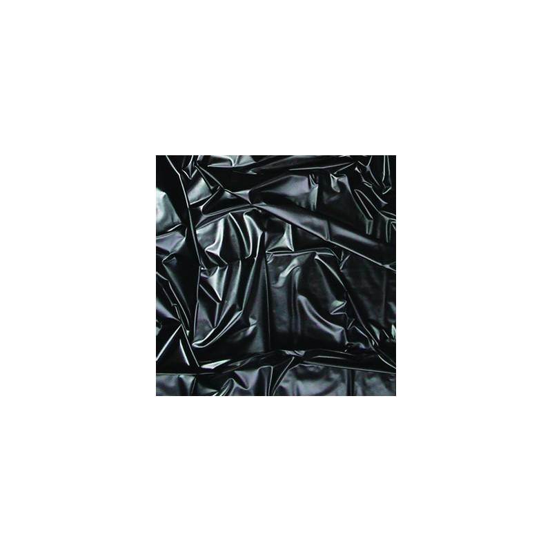 Czarne winylowe prześcieradło JoyDivision SexMAX WetGAMES 180 x 220 cm