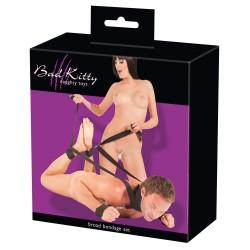 Zestaw BDSM do krępowania rąk i nóg Bad Kitty