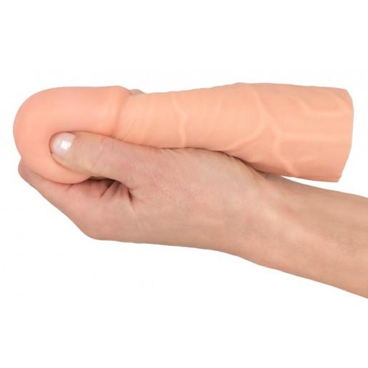 Elastyczna nakładka na penisa +4cm Nature Skin