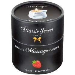 Świeca do masażu Truskawka 80 ml Plaisir Secret