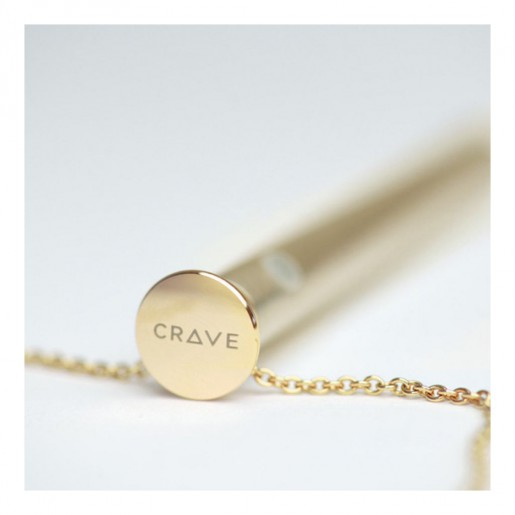 Wibrator naszyjnik - Crave Vesper Vibrator Necklace Gold Złocony