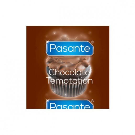 Prezerwatywy o smaku czekoladowym Pasante Chocolate Tempation 144 sztuki
