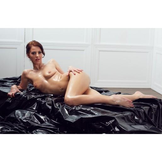 Winylowe prześcieradło 200x230cm czarne Fetish Collection