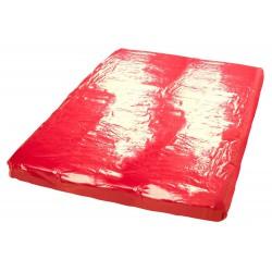 Czerwone, winylowe prześcieradło 200x230cm