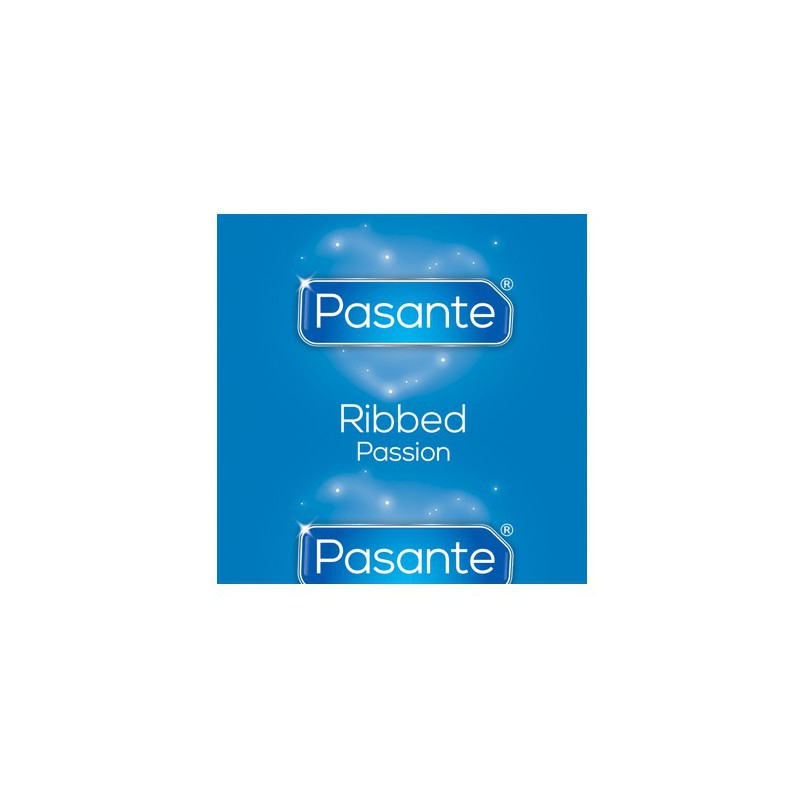Prezerwatywy z wypustkami Pasante Ribbed 144 sztuki