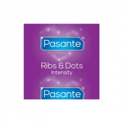 Prążkowane prezerwatywy Pasante Intensity 144 sztuki
