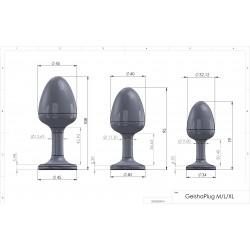 Korek analny Marc Dorcel Geisha Plug Diamond rozmiar M