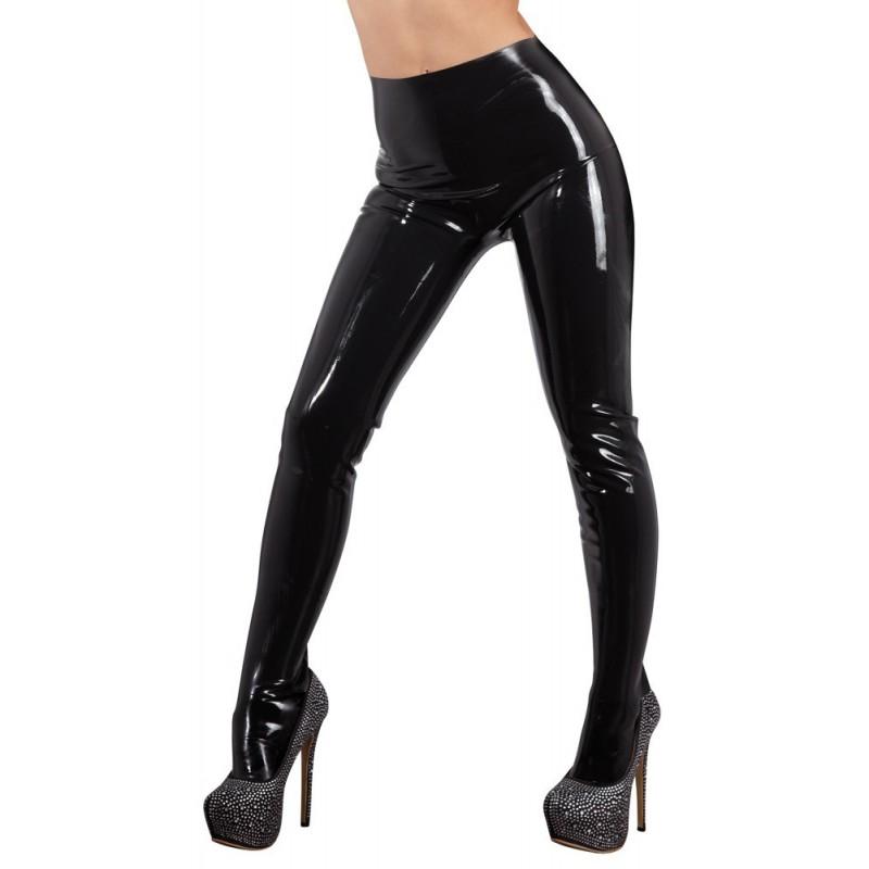 Czarne lateksowe legginsy LateX