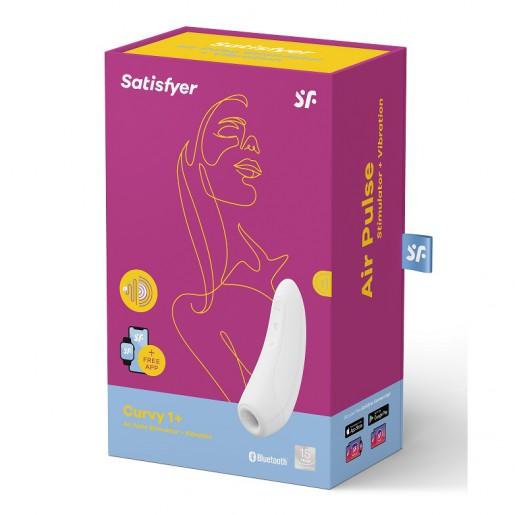Bezdotykowy masażer łechtaczki sterowany aplikacją Satisfyer Curvy 1+ biały