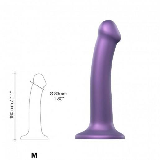 Fioletowe dildo z przyssawką Mono Density rozmiar M