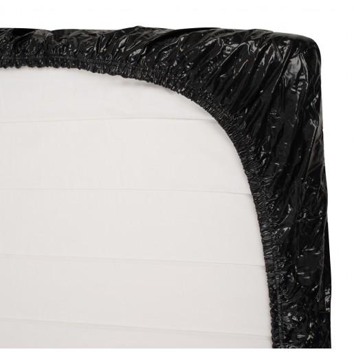 Czarne prześcieradło 160 x 200 cm Fetish Collection